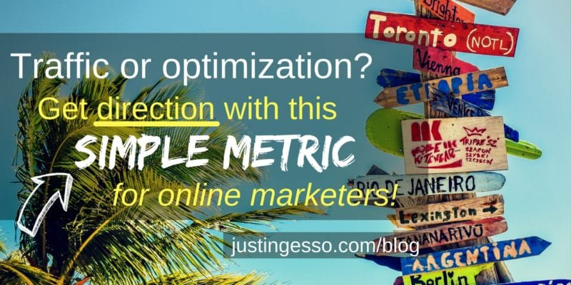 Traffic or optimization_ Get direction with this simple metric for online marketers